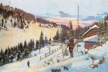 Postkarte-SonnwendsteinSchifahrer366
